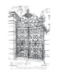 Sword Gates, no. 34 Legare St.